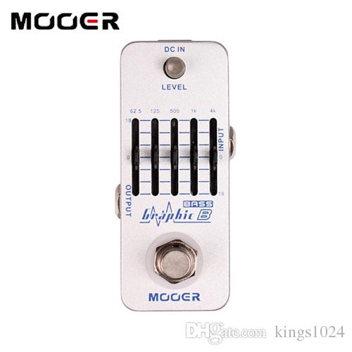 MOOER Graphic B 5-Band Bass Equalizer Pedal Graphic EQ with master level control Guitar effect pedal