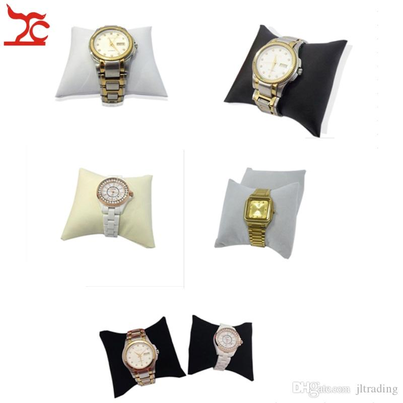 Jewelry Display Free Shipping PU Leatherette Velvet Cushion Pillow Bangle Bracelet Holder Stand box Watch Pillow Medium Size