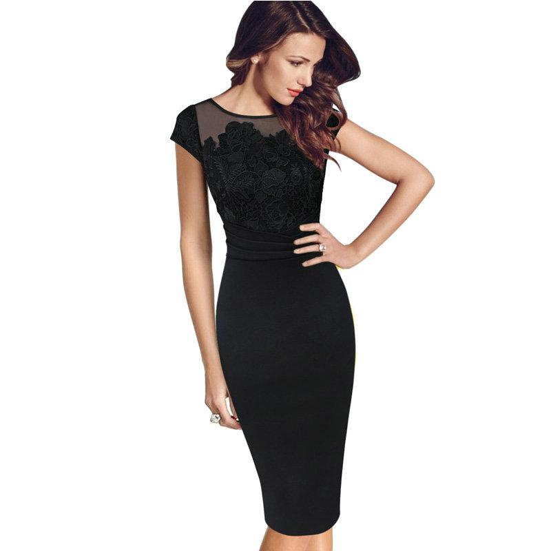New Fashion Women Sexy Elegant Floral Crochet Lace Ruched Party Evening Sheath Special Occasion Bridemaid Mother of Bride Dress