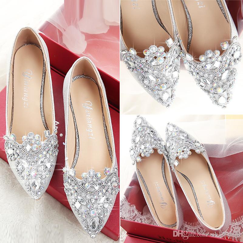 New Luxurious Cinderella High Heels Crystal Summer Wedding Bridal