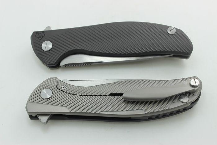 Flipper Modeli 95 Özel Bölümü w / Çıplaklar Ti Çerçeve Farklı Renkler Titanyum Kolu D2 Blade Katlanır Bıçak EDC Taktik Araçları Ücretsiz Kargo