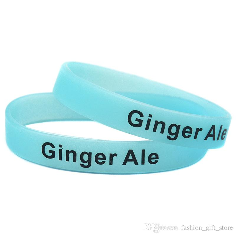 1PC Glow In Dark Silicone Wristband Diet Cola Ginger Ale Cola Orange Juice Lemon Lime Soda For Night Club