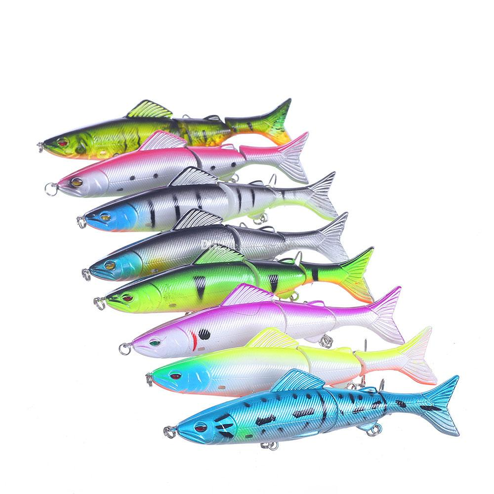 8pcs Fishing Lures Spinner Baits Crankbait Assorted Fish Tackle Hooks F00489