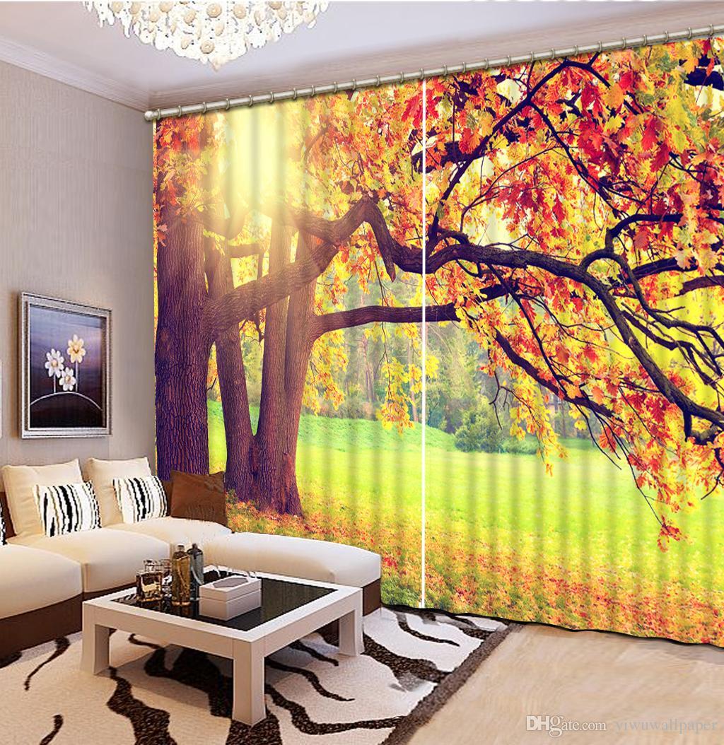 rideaux pour rideaux paysages salon de auturn personnalisé de haute qualité taille Personnaliser moderne