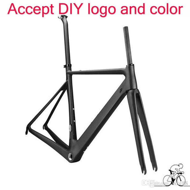 2017 best sale road bike carbon frame T1100 1k/3k black red bicycle frameset bicycle frame DIY paint frameset free shipping