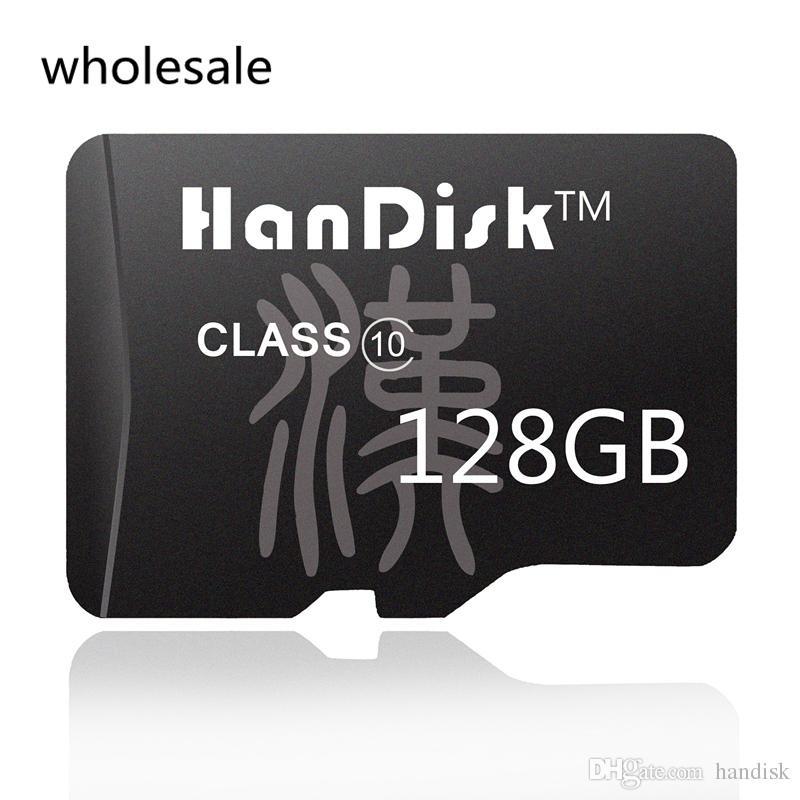HanDisk 128GB Black Micro Card SD 128G Class10 en gros CE FCC certification TF Carte 10-100pcs / lot Qualité Carte Mémoire SDXC
