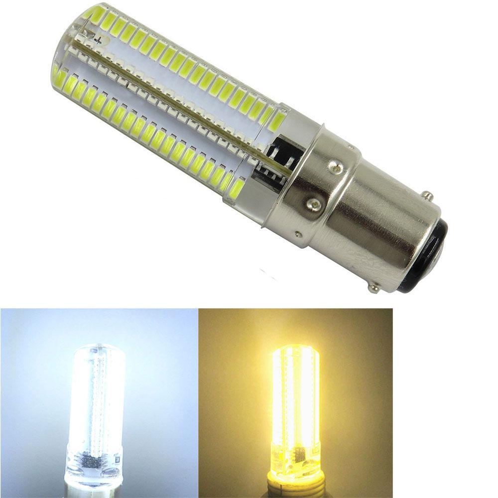 Packen von 10, BA15D 1178 1142 dimmbare 110V / 220V 5W 500LM 152-3014 SMD Daylight-Silikon-LED-Birnen-Kronleuchter Kristall-Lampen-warmes / Weiß