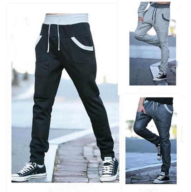 Toptan-Erkek Joggers Pantolon 2016 Marka Erkek Kargo Pantolon Ince Benzersiz Cep Tayt Pantolon Sıkıştırma Erkekler Jogger FU