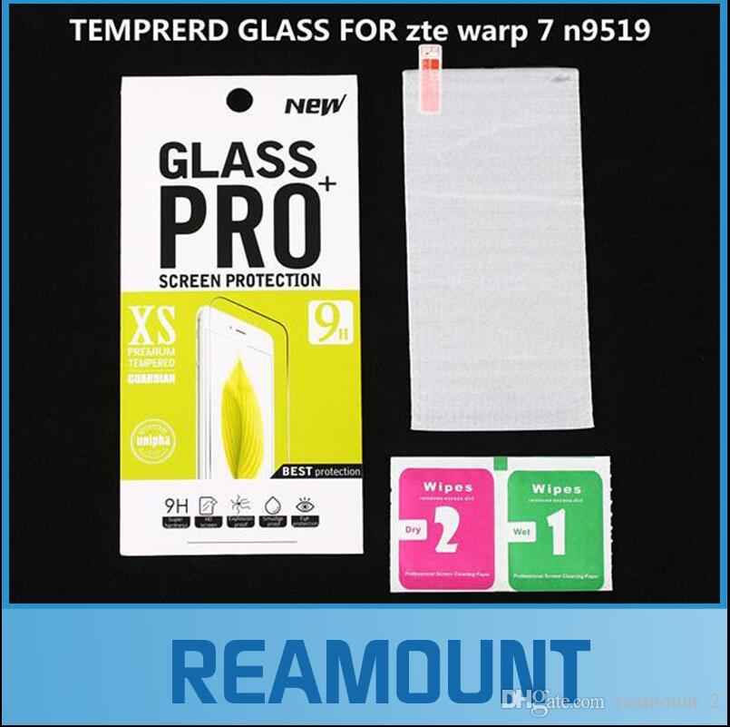 500 pcs Wholesale 0.3mm for zte warp 7 n9519 Tempered Glass Screen Protector premium for zte warp 7 n9519 screen film