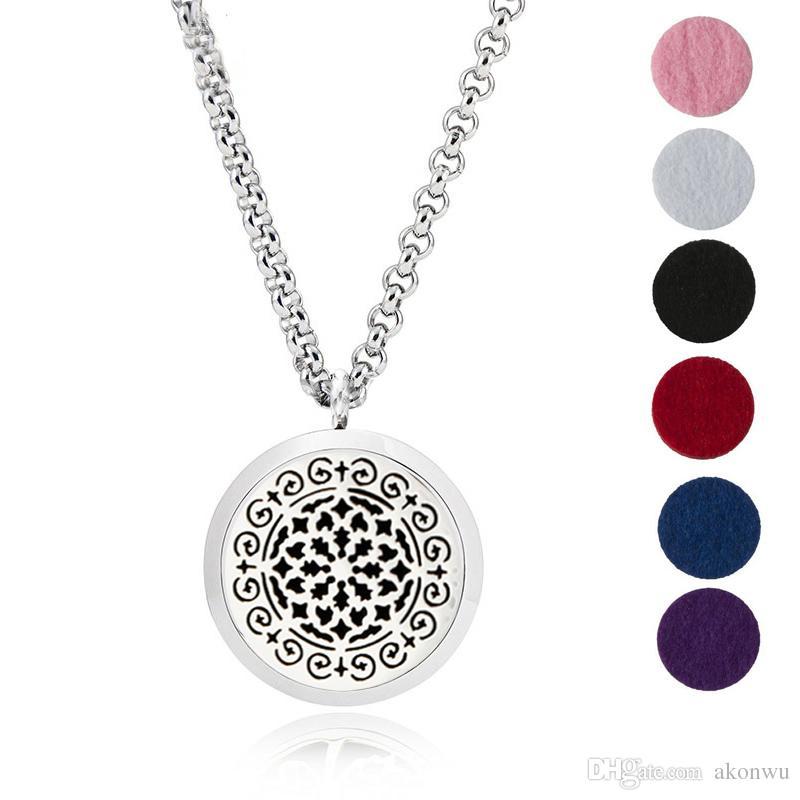 Aroma Jewelry 30 мм Парфюмерный медальон Эфирное масло из нержавеющей стали 316L Ароматерапевтический диффузор Медальон Подвеска