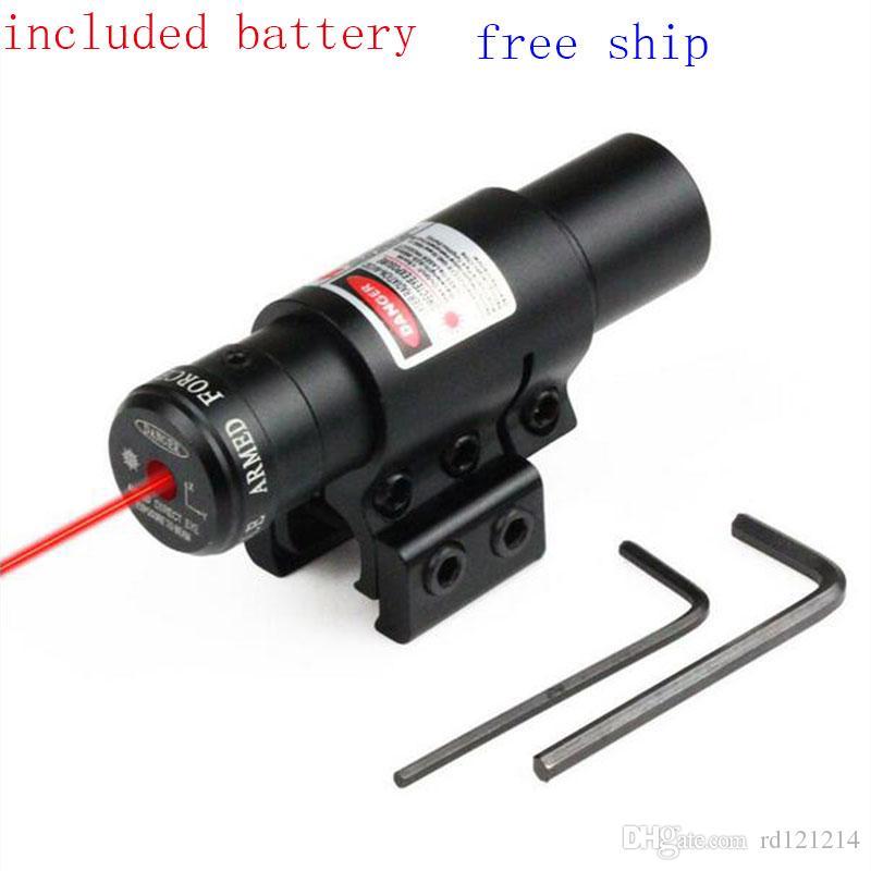 Tactical Red Dot Laser Sight per pistola da caccia e guida da 11mm o 20mm Accurate 650nm Con rail da 11/20 mm per pistole Airsoft