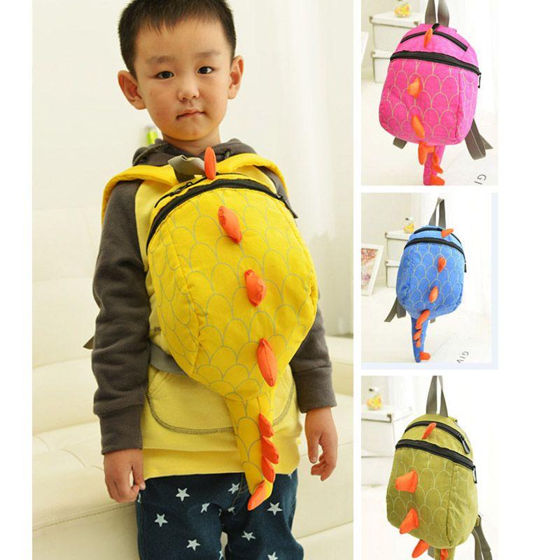베이비 키즈 공룡 배낭 가방 어린이 소년 소녀 동물성 만화 Schoolbag 어깨 가방 4 색 W21cm H26cm PX-B27