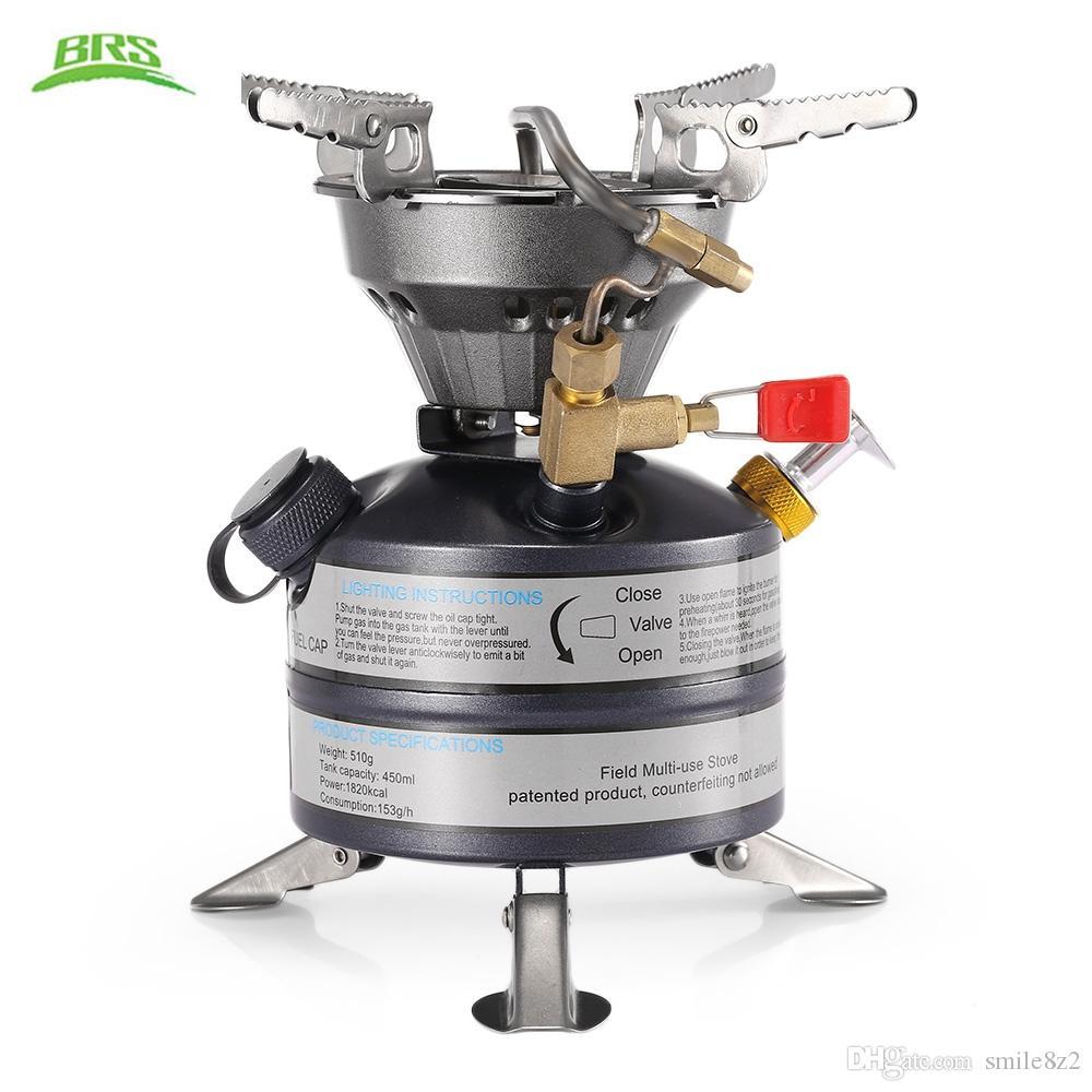 BRS Stufa a gas monoblocco Stufa a gas per esterni Cucina da cucina Luce per gas estinguente Fornello Fornello Kit di sopravvivenza Ulitity Spedizione gratuita
