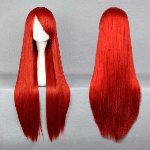 MCOSER Lo stile europeo e americano Fairy Tail Elza Scarlet parrucca rossa lunga rettilineo Cosplay Spedizione gratuita