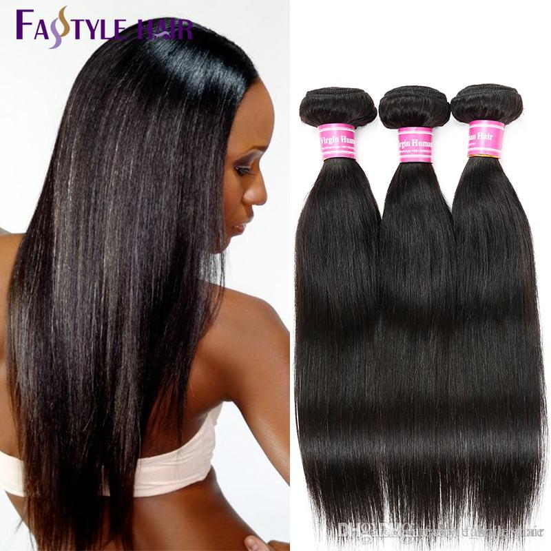 HOT!!Fastyle Peruvian Straight Hair Bundles Dyeable Brazilian Malaysian Indian Unprocessed Virgin Hair Bundles TOP Quality Reasonable Price