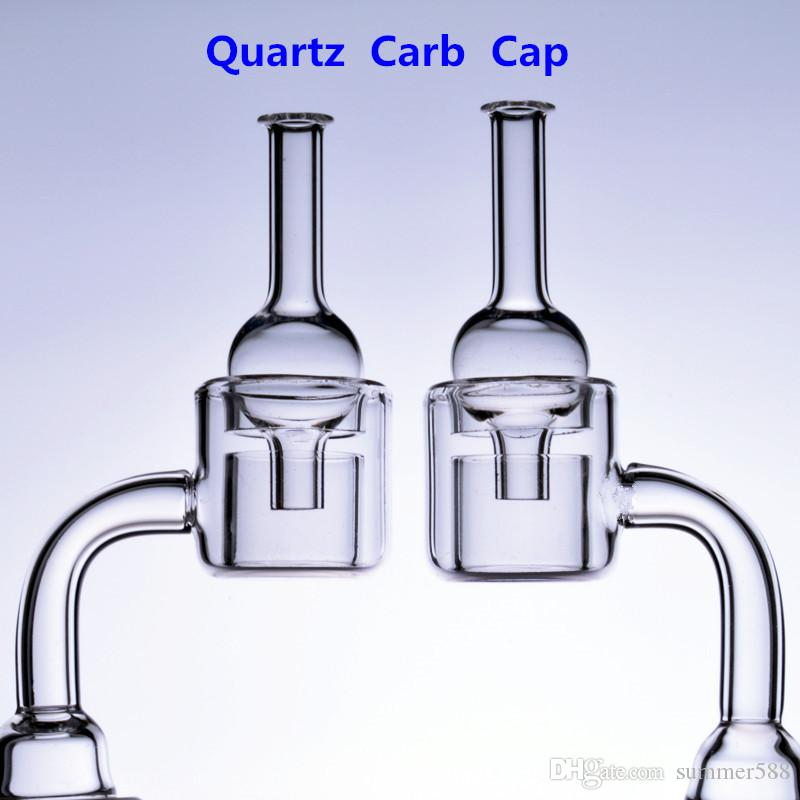Double Quartz Banger carb cap Nail Thermal 14mm 18mm male female 18.8mm Rigs Oil glass bong smoking Adapter Water Pipes Beaker Bowls