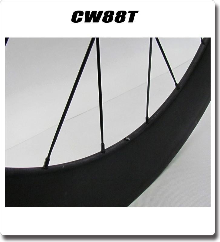 2 years warranty 700C 23mm wide Road Bike Carbon 88mm Tubular Wheelset chinese carbon wheels velo ruoto
