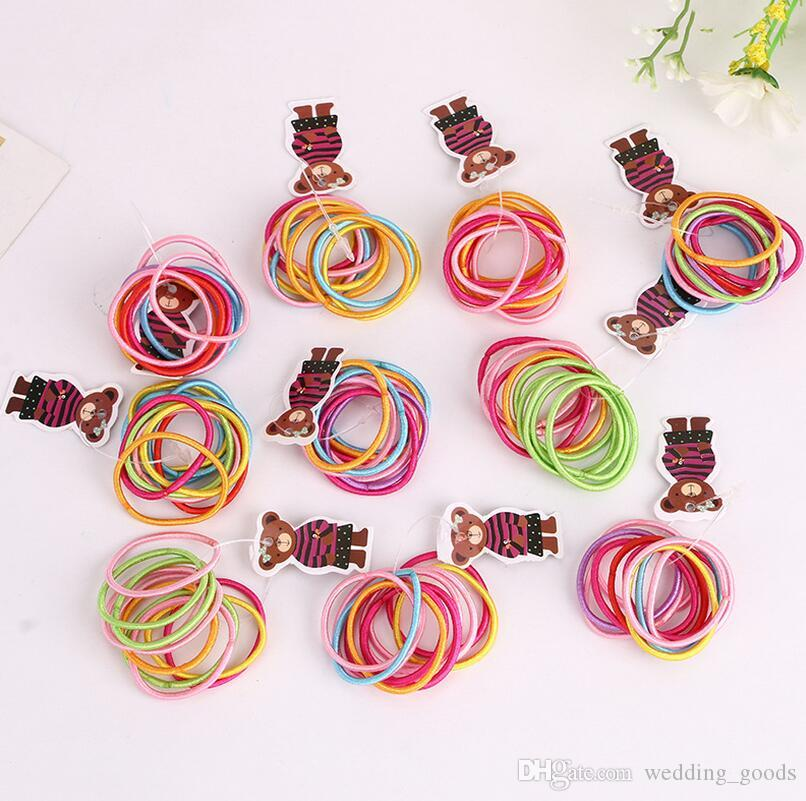 Hot sale Selling high-explosive hair rope hair ornaments color seamless seams FQ006 mix order 100 1set=10 pieces