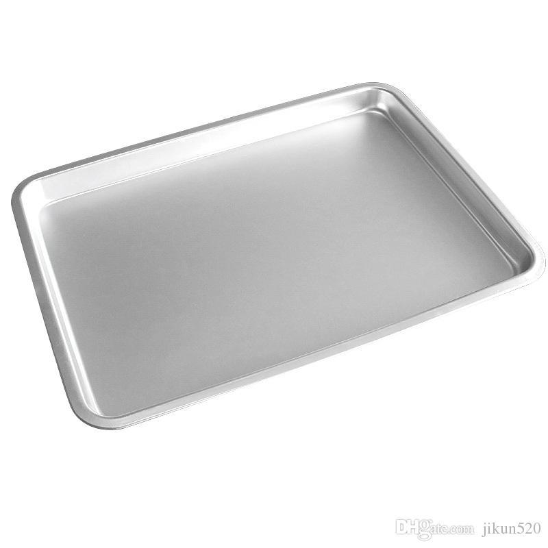 15 polegadas de Liga de Alumínio Folha de Baker Comercial Bolo de Pão De Prata Retângulo Bakeware Ferramentas Cookie Assar Pan Bandeja Para Cozinha DIY Ferramenta
