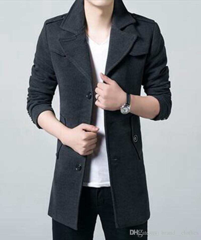 Мужская осень/зима в Европе и Хань издание высший сорт шерстяной ткани новая мода бутик бизнес пальто / M-3XL