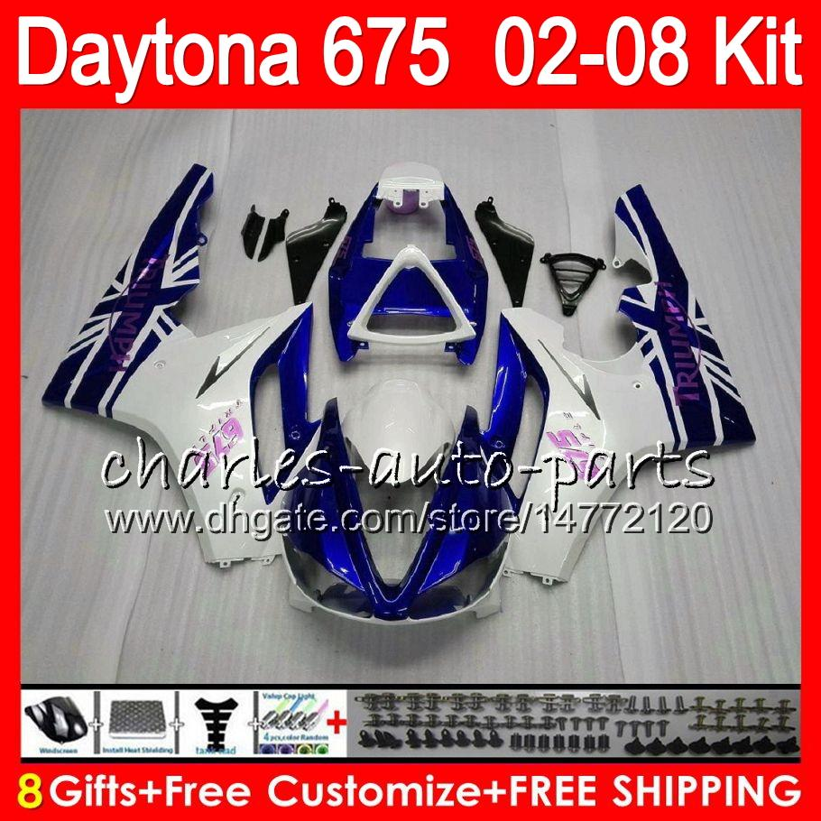 bianco 8 regali 23 colori per trionfo Daytona 675 02 03 04 05 06 07 08 Daytona675 4HM2 Daytona 675 2002 2003 2004 2005 2006 2007 2008 carenatura