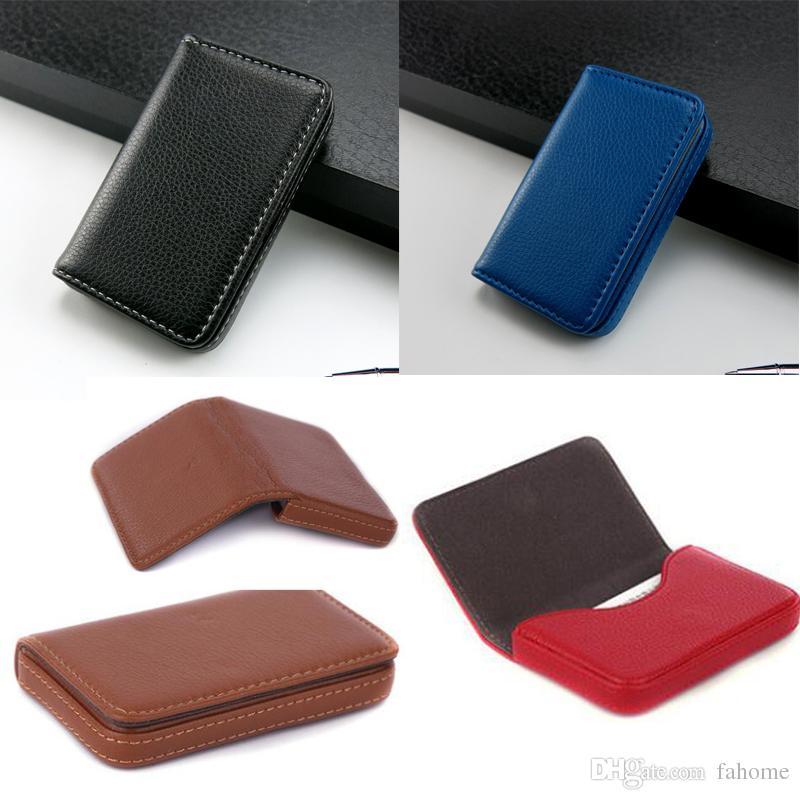 Business Name Kartenhalter Kreditkarteninhaber Mode Unisex Visitenkarte Fall PU Leder große Kapazität Brieftasche