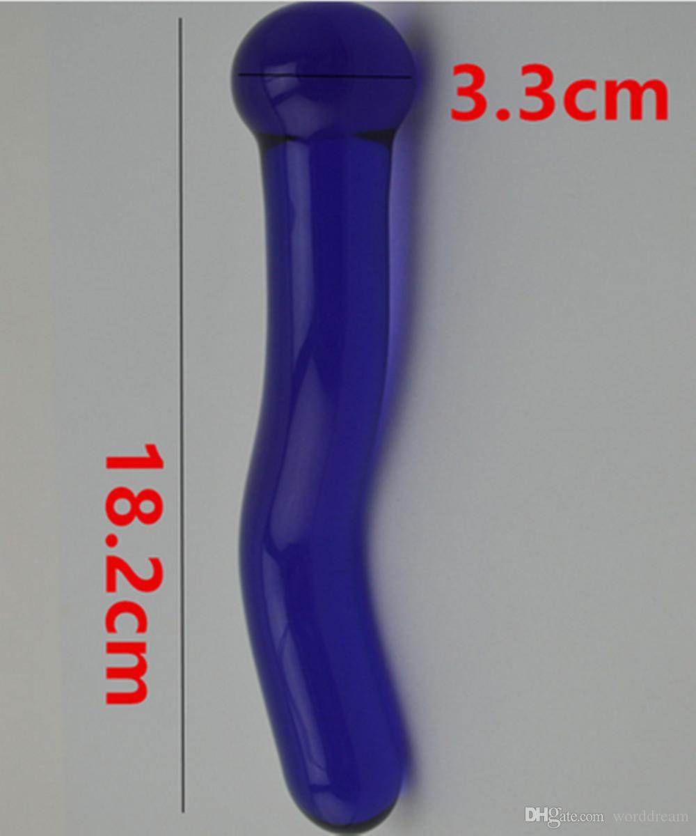Anus Stimulator Sex Toys Für Frauen Und Männer Homosexuell, 18,2 * 3,3 CM Glas Dildos Penis Anal Bead Butt Plug In Erwachsene Spiele