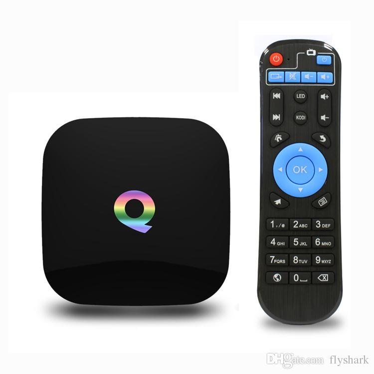 android tv box 2gb Q BOX Android 5.1 OS Amlogic S905 Quad Core 2GB 16GB 2.4g/5.0g WIFI Bluetooth 4.0 Smart TV media player tv box