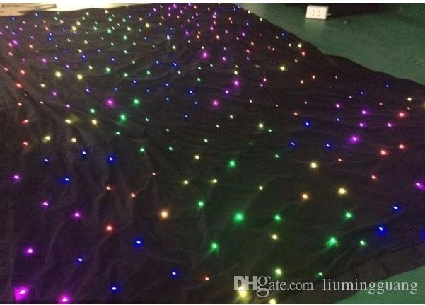 Tissu d'étoile de 3mx6m RVB 3in1 LED, décors de DMX DJ, décoration de mariage d'étoile de rideau en LED avec 30 programmes de Pr
