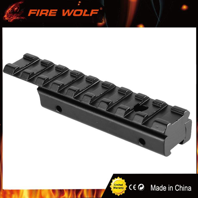 FIRE WOLF Aluminum Alloy 11mm to 20mm Dovetail Weaver Picatinny Rail Adapter Converter Mount Scope Base Adapter Allen Wrench