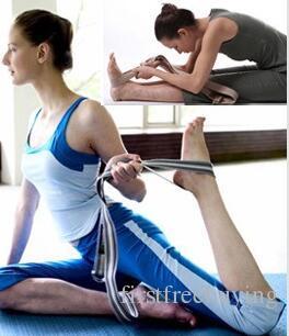 1 pc / lot correa de estiramiento de yoga cinturón de entrenamiento cintura pierna gimnasio gimnasio gimnasio figura pierna de la cintura para hombres mujeres