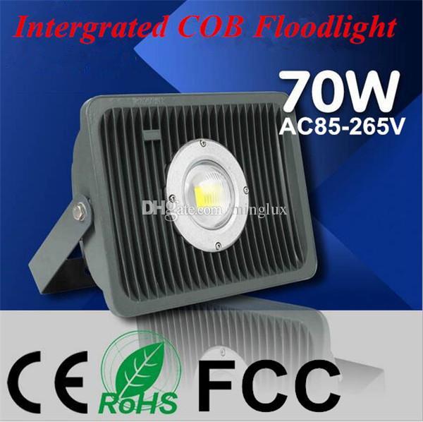 70W Hot Sales COB Landscape Floodlights Ahorro de energía 85% LED Chip Lámpara de inundación IP65 70W 110V 220V Luz de lavado de pared LED