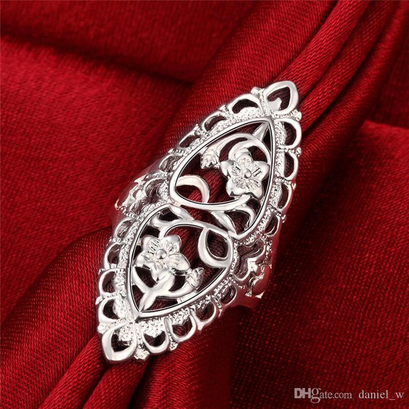 Anelli in argento 925 placcato in argento sterling con anelli per la personalità femminile