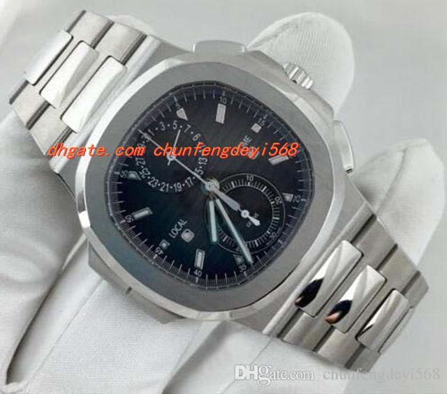 패션 럭셔리 손목 시계 쿼츠 N @ utilus 5990 / 1A 크로노 그래프 여행 시간 남성 시계 남성 시계 최고 품질