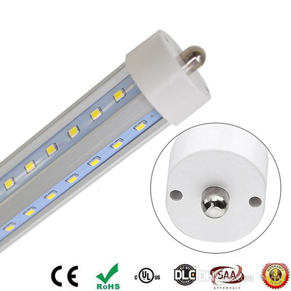 FA8 LED 튜브 T8 1PIN 단일 핀 60W 8 피트 2.4M 8피트 LED 형광등 AC 85-265V 6000LM 무료 배송