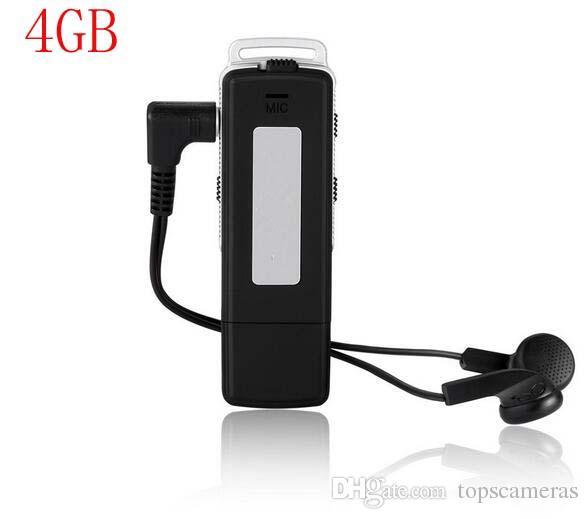 Бесплатная доставка UR-12 USB Disk Digital Audio Voice Recorder 4GB / 8GB MP3-плеер-рекордер One Button + Long Time Recording