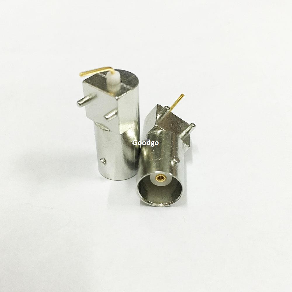 10 Pçs / lote Freeshipping Q9 3 Pé BNC Horizontal Tomada de Soquete de Solda PCB placa RF Conector