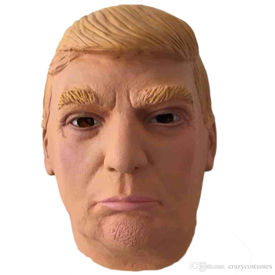 halloween party adult sex full face latex mask United states president realistic Donald Trump mask for party