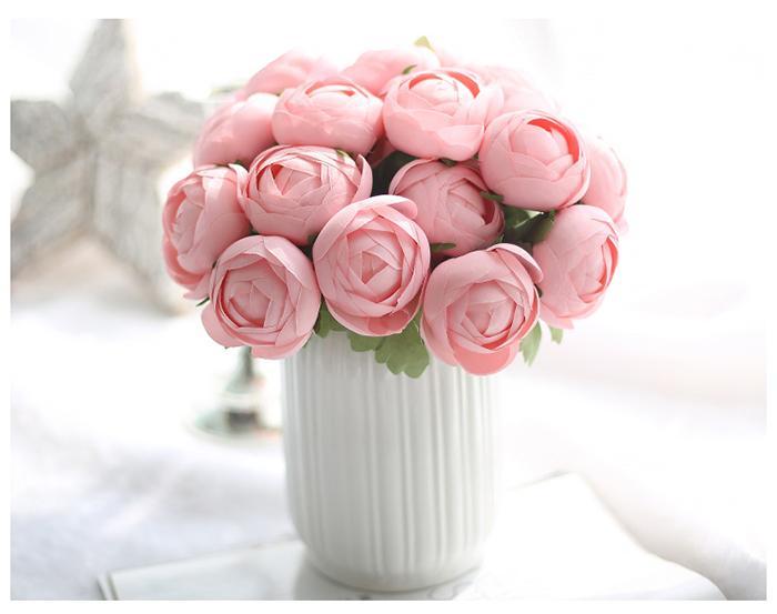 Spedizione gratuita 4colors Boccioli di fiori artificiali Disposizione dei fiori di seta All'ingrosso weddding o decorazione della stanza di casa