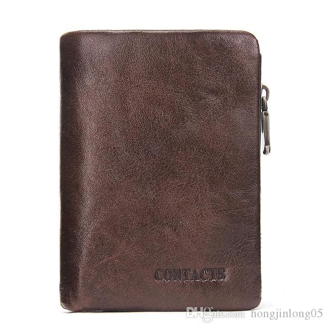 남자 지갑 진짜 가죽 짧은 지갑 캐주얼 및 단색 남성 클러치 남자의 지갑 동전 M1209와 다기능 카드 홀더