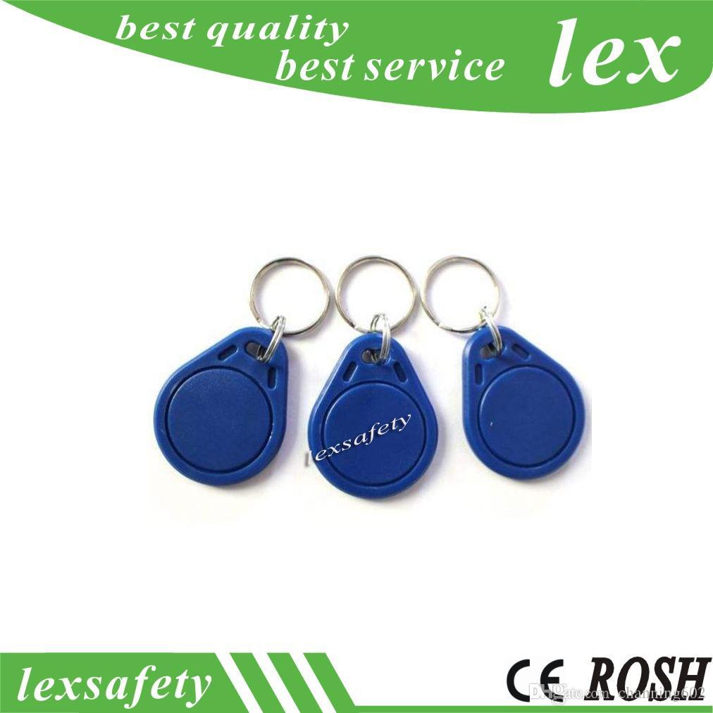 100 pcs / lot RFID 125KHZ T5577 / T5557 ISO11785 porte-clés étiquettes porte-clés porte-clés réinscriptible fob
