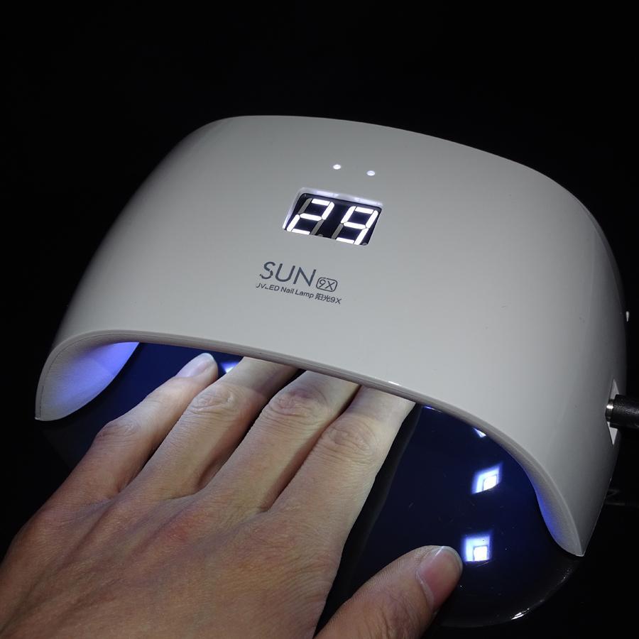 بالجملة، FOEONCO SUN9X 18W مصباح الأشعة فوق البنفسجية لمسمار مانيكير الضوء الأبيض تحكم الموقت المهنية مسمار مجفف علاج جميع UV LED هلام مسمار