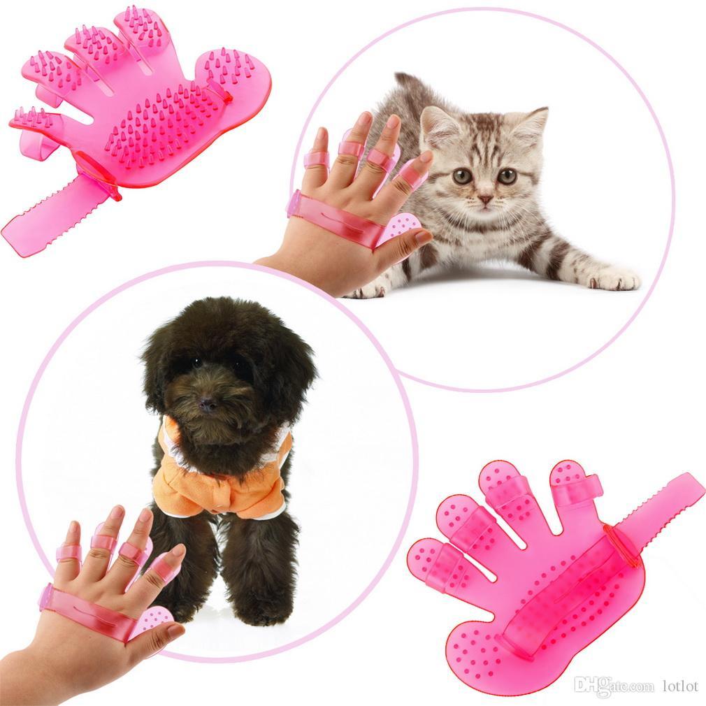 다섯 손가락 강아지 목욕 브러시 손바닥 모양의 애완 동물 입욕 마사지 개 브러시 애완 동물 브러시