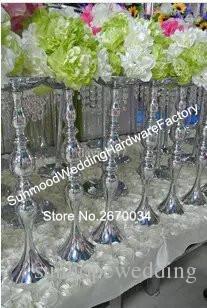 Demir Metal zihinsel Mum Düğün masa dekorasyon için çiçek standı standı koridor ayağı