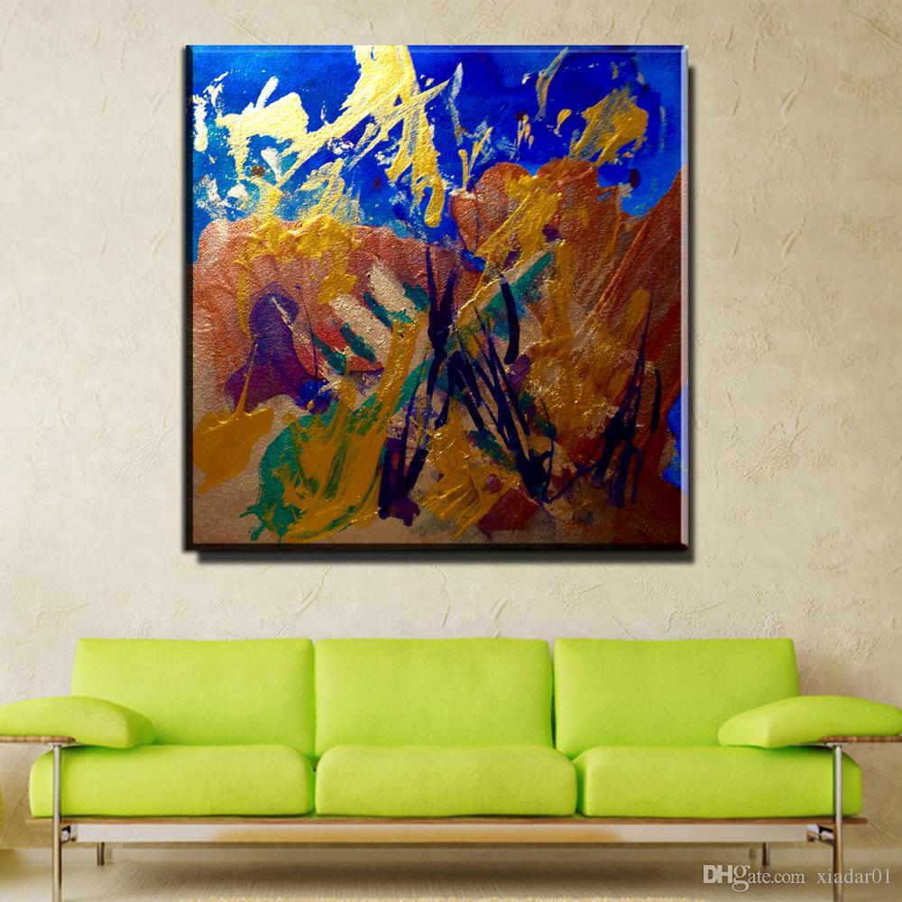 ZZ999 moderna astratta su tela colorata quadri su tela pittura ad olio per soggiorno camera da letto decorazione dipinti senza cornice