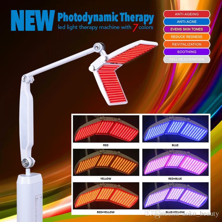 Güzellik Salonu Kullanımı PDT LED Cilt Gençleştirme Makinesi Işık Terapi Foton Makinesi Ile CE Ile 7 Renkler Profesyonel