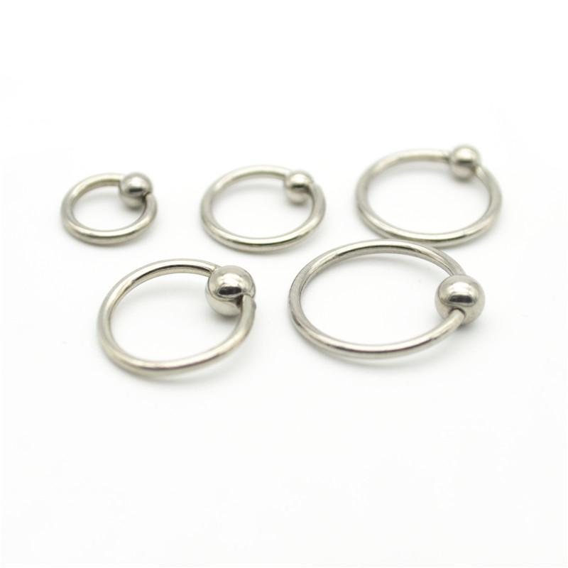 BCR Nose ring Labret Lip Stud Earring Tragus Nipple Ball Closure Captive Rings 16G Surgical Steel 4mm Ball Round Septum 10mm 12m