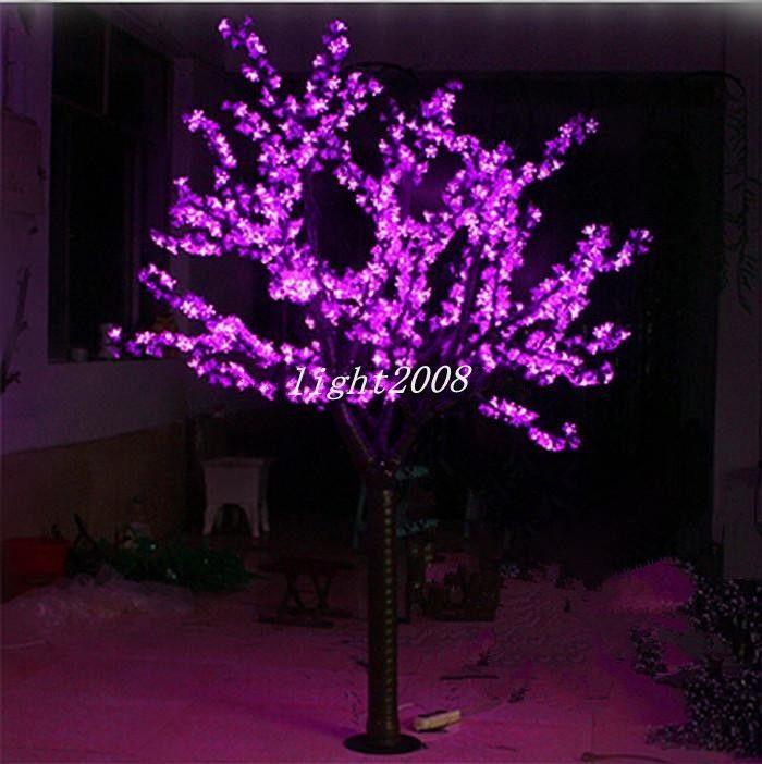 LED Artificial Cherry Blosom Tree Light Christmas Light 1248pcs LED Bulbs 2m / 6.5 ft Height 110 / 220VAC Rain Outdor Use Free Shipping