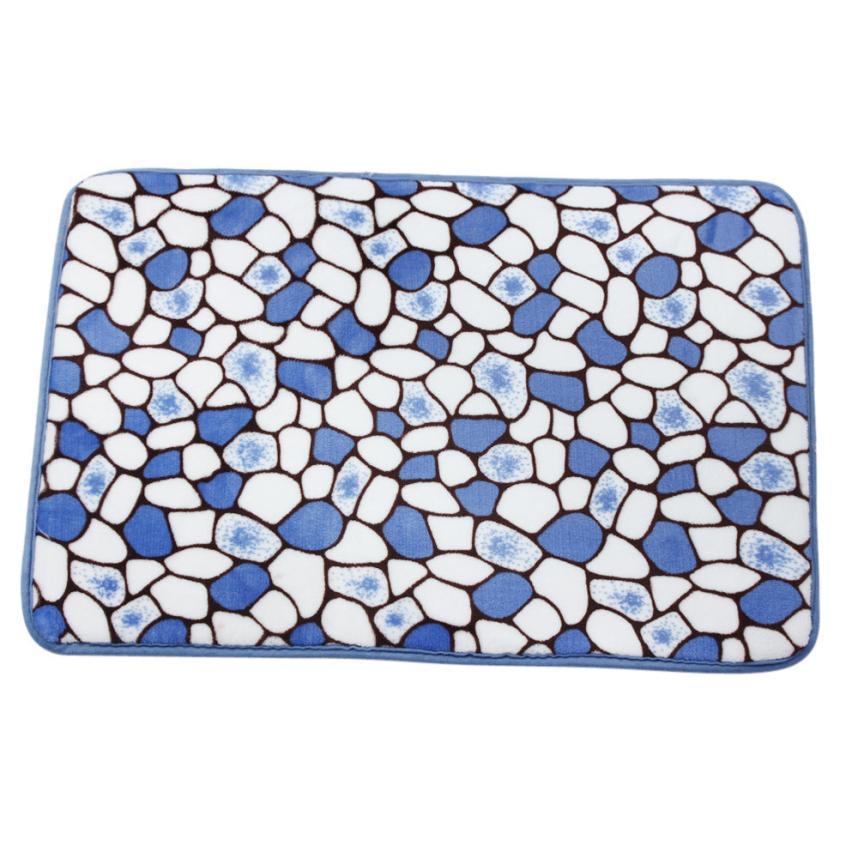 Al por mayor-60 * 40cm 4 colores de espuma de memoria estera de baño alfombra de ducha antideslizante alfombras de piso feliz regalos de alta calidad Coral polar vellón 19 de octubre