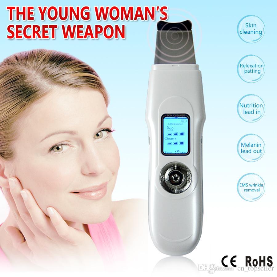 الصمام البسيطة المحمولة الوجه بالموجات فوق الصوتية مدلك الوجه ايون الجلد الغسيل تقشير الوجه منظف مدلك